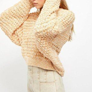 NEW Free People Coconut Knit V-Neck Sweater S